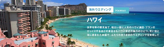 ハワイで海外ウエディング