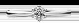 婚約指輪 ソリティア(一粒石)