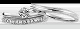 婚約指輪 結婚指輪と重ねづけできるリング