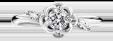 婚約指輪 モチーフ(花、ハートなど)
