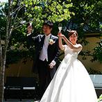 星野リゾート 軽井沢ホテルブレストンコート:体制の整っているホテルグループのため、遠距離でも安心できた。短期集中で準備にのぞんで笑顔の一日を!