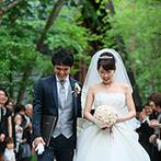 軽井沢高原教会:国内リゾートとして人気の軽井沢で、小旅行気分の結婚式。久しぶりに会う親族やいとことの交流も深められた