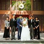 軽井沢高原教会:両家の絆を深めるために選んだ、アットホームなリゾートウエディング。緑あふれる軽井沢はふたりの希望通り