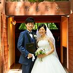 軽井沢高原教会:事前に軽井沢に訪れたのは下見の一回のみ。銀座サロンの細やかな打合せで焦ることなくスムーズに準備できた