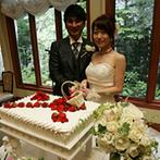 森のチャペル 軽井沢礼拝堂 ホテル軽井沢エレガンス:楽しすぎてアッという間に終わった披露宴。ガラスの向こうの豊かな緑と上質な時間の中で幸せを感じた