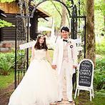 THE NIDOM RESORT WEDDING:異国の雰囲気を感じられるウエディングの舞台に一目惚れ。開放的なガーデンでのパーティに胸がときめいた