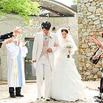 THE NIDOM RESORT WEDDING:森の自然と調和する石造りの教会で心温まる感動挙式。大空の下、開放感たっぷりのアフターセレモニーも満喫