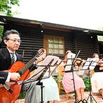 THE NIDOM RESORT WEDDING:ゲストのお出迎えから始まったガーデンパーティ。美しい音楽に彩られた空間で大切な人々との絆を深めた