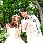 THE NIDOM RESORT WEDDING:ゆったりとした時間の中で子どもゲストも大はしゃぎ!深い緑や湖といった自然の中で写真を残すことができた