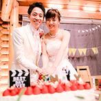 THE NIDOM RESORT WEDDING:映画の結婚式を再現した、手作り感のあるパーティ。おしゃれな装飾やキュートなウエディングケーキも話題