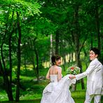 THE NIDOM RESORT WEDDING:遠方在住のふたりを丁寧にサポート。理想のイメージをしっかり理解したスタッフから、予想を上回る提案も