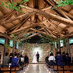 THE NIDOM RESORT WEDDING:世界的建築家が手掛けた教会で誓いを交わしたい。大自然の中でのんびり過ごす和やかなパーティを思い描いた
