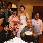旧軽井沢礼拝堂 旧軽井沢ホテル音羽ノ森:身内だけのパーティは和気あいあいと。旬の素材の美味しさをそのまま生かしたメニューがゲストに好評