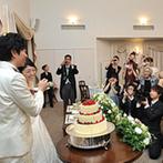 旧軽井沢礼拝堂 旧軽井沢ホテル音羽ノ森:ふたりの好きなものに囲まれたホームパーティのような披露宴。地元の食材を使った美味しいおもてなしも好評