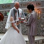石の教会 内村鑑三記念堂:新郎の海外赴任で不安だった新婦に寄り添ってくれたプランナー。テレビ電話での打合せもできて感謝しきり