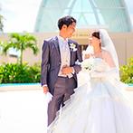 オクマ・フェリシア教会:青い海と緑溢れる絶好のロケーションで叶えるリゾート挙式。旅行も兼ねた結婚式でゲストと絆を深めるひと時