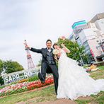 ローズガーデンクライスト教会:札幌市内でロケーションフォト!有名な名所を巡るなど、観光気分で楽しみながら思い出の写真を残せた
