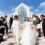 モントレ・ルメール教会:結婚式はもちろん、ゲストとの旅行の思い出も残せて幸せな気分に。ロケーション撮影も存分に満喫できた