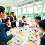 セントレジェンダ OKINAWA(CENTLEGENDA OKINAWA):ゲストとの距離がぐっと近づくカジュアルなパーティ。美しいサンセットを見ながら優雅なデザートタイムも