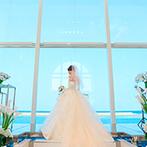 セントレジェンダ OKINAWA(CENTLEGENDA OKINAWA):沖縄から遠く離れた地での準備も、打ち合わせ体制が整っていて安心。リハーサル通りの花嫁姿も叶えられた