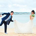 セントレジェンダ OKINAWA(CENTLEGENDA OKINAWA):非日常感たっぷりのロケーションはリゾートならでは!家族としての思い出が結婚式とともにさらに増えた