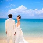 セントレジェンダ OKINAWA(CENTLEGENDA OKINAWA):生まれ育った沖縄で、海外のように夢いっぱいの結婚式。街の喧騒を離れ、優雅なひとときを楽しんでもらえた