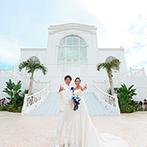 セントレジェンダ OKINAWA(CENTLEGENDA OKINAWA):那覇空港から35分の、海と空に抱かれたチャペル!親族や友人も旅行気分で参加できるリゾートウエディング
