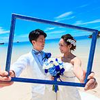 セントレジェンダ OKINAWA(CENTLEGENDA OKINAWA):日常を離れ、大切な人たちとリゾートムードを満喫できた結婚式。大好きな沖縄の海と空に幸せの記憶を刻んだ