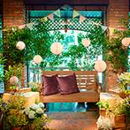 THE FUJIYA GOHONJIN(藤屋御本陳):ふたりの夢をカタチにした「森のレストラン」にゲストを招待!テーマに合わせた空間コーディネートが大好評