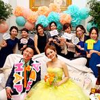 アーククラブ迎賓館 金沢:メイン席は憧れのソファスタイル!ゲストが集まるフォトスポットになり、ワイワイとにぎやかなパーティに