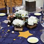 LIVEYELL(リビエール):「星」をテーマにコーディネートした空間で始まったパーティ!感謝の想いを込めて友人へのサンクスバイトも