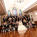 仙台ゆりが丘 マリアージュ アン ヴィラ:祭壇一面を彩るステンドグラスにひと目惚れ。プライベート感抜群の貸切邸宅や和食のおもてなしもポイントに