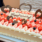 ベルヴィ郡山館:母との入場や楽しい余興で、ゲストの笑顔があふれるパーティ。美味しい料理&ケーキが大好評だった