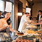 仙台国際ホテル:料理からスイーツまで、こだわり尽くしのメニュー。コック帽を被ったふたりによる、心を込めたおもてなしも