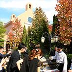 グランラセーレ レガロ:秋晴れの空の下で楽しむ『ガーデングリル』も大盛況!お肉もデザートもふたり自らがサーブして感謝を伝えた