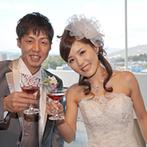 グランラセーレ東広島:ナチュラルモダンな披露宴会場の雰囲気に一目ぼれ!しかもプール付きガーデンまで貸切にできると聞き即決