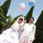 エルセルモ熊本:ブーケ・ブートニアの儀式など欧州スタイルを取り入れた大聖堂のセレモニー。挙式後は盛りだくさんの演出も