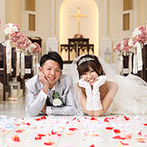 ララシャンス迎賓館:新婦の好みをわかってくれる、フレンドリーなスタッフたち。前日の飾りつけや前撮りも、素敵な思い出