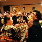 アニエス会津:テーマに合わせた装花を使って会場をコーディネート。両家両親も演出に参加して親子の絆を深めたパーティ