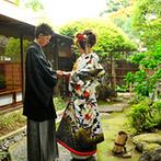 Yoshikawa Village (よし川):当日と違う和の雰囲気を、前撮りで残しても素敵。コーディネートや衣裳は小さなことも妥協せず想いを叶えて
