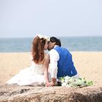 ホテル マリターレ創世 佐賀:素敵な景色をバックに写真を残せるロケーション撮影はおすすめ。事前にふたりで理想の結婚式を思い描いて