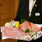 THE NIDOM RESORT WEDDING:美容師でもある新郎によるヘアアレンジで、美しい花嫁姿に。北海道産の食材をふんだんに使った料理は絶品!