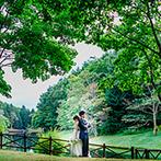 THE NIDOM RESORT WEDDING:アウトドア好きのふたりに似合う緑あふれる式場。おいしい料理を試食し、ゲストの笑顔が頭に浮かんだ