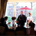 Wedding World ARCADIA KOKURA(ウェディングワールド・アルカディア小倉):自然豊かな5000坪の敷地に4つの邸宅が点在する贅沢な空間。絶品料理やスタッフの親身な対応で、心を決めた