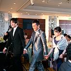 浅草ビューホテル:最上階の28階から東京の美しい眺めを堪能したパーティ。アレルギーの人にも配慮した料理で全員が大満足!