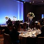 ANAインターコンチネンタルホテル東京:大スケールのバンケットで69名のゲストに寛いでもらう披露宴。三ツ星シェフプロデュースの美食も喜ばれた