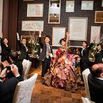 ホテル テラス ザ ガーデン水戸:プランナーをはじめ、たくさんのスタッフと創りあげた結婚式。司会者のユニークなトークもゲストに大好評