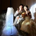 ヒルトン東京ベイ:ゲストが参加できる演出が多彩。光の演出に驚いたり、おしゃべりしながら写真を撮ったりと存分に楽しめた