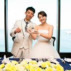 ホテルモントレ横浜:初デートの再現ビデオや新郎のサプライズで沸きたったパーティ。テーブルラウンドではゲストに感謝を伝えた