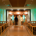ベルヴィ武蔵野:最新の映像演出が叶うモダンな神殿は理想にぴったり!駅に近くシャトルバスもあるから、ゲストの送迎も安心